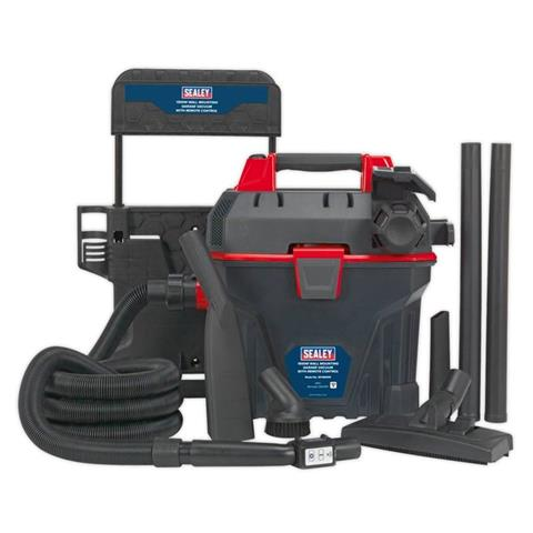 Sealey Tools Garage Vacuum 1500W with Remote Control - Wall Mounting