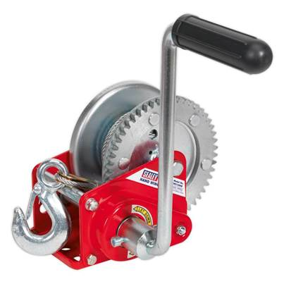 Sealey Tools Geared Hand Winch with Brake & Cable 540kg Capacity
