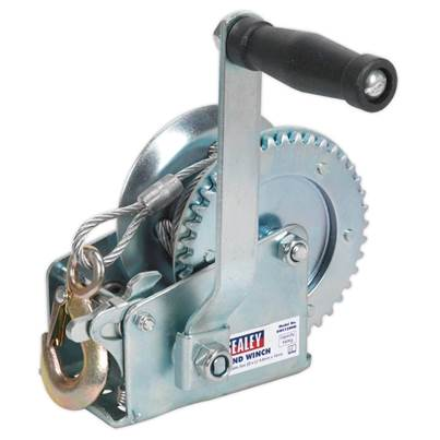 Sealey Tools Geared Hand Winch 540kg Capacity with Cable