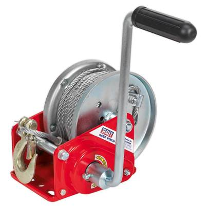 Sealey Tools Geared Hand Winch with Brake & Cable 900kg Capacity