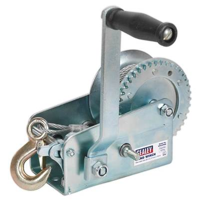 Sealey Tools Geared Hand Winch 900kg Capacity with Cable