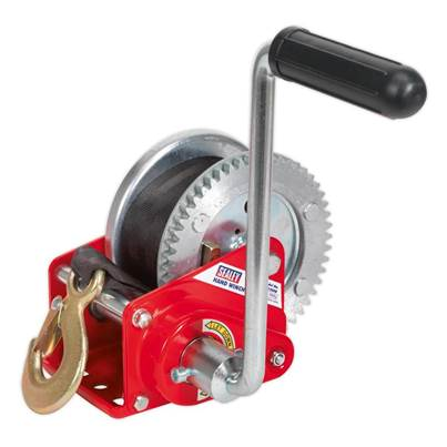 Sealey Tools Geared Hand Winch with Brake & Webbing 540kg Capacity