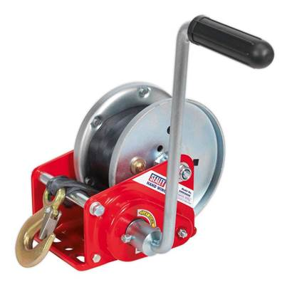Sealey Tools Geared Hand Winch with Brake & Webbing 900kg Capacity