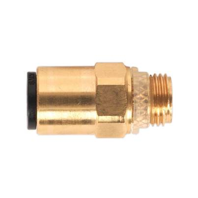 "Sealey Tools Brass SuperThread Straight Adaptor 6mm x 1/8""BSP Pack of 2 (John Guest Speedfit® - RM010611)"