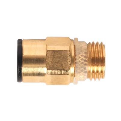 "Sealey Tools Brass SuperThread Straight Adaptor 8mm x 1/4""BSP Pack of 2 (John Guest Speedfit® - RM10812)"