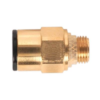 "Sealey Tools Brass SuperThread Straight Adaptor 8mm x 1/8""BSP Pack of 2 (John Guest Speedfit® - RM010811)"