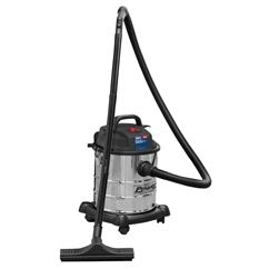 Vacuum Cleaner Wet & Dry 20L 1200W/230V Stainless Drum