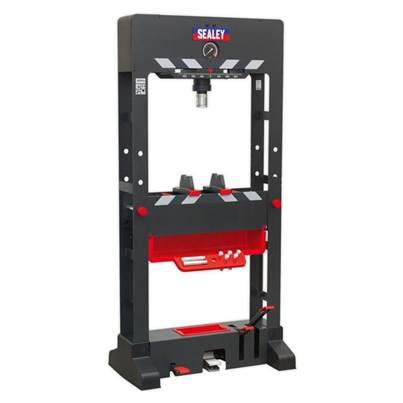 Sealey Tools Premier Air/Hydraulic Press 30tonne Floor Type with Sliding Ram and Foot Pedal