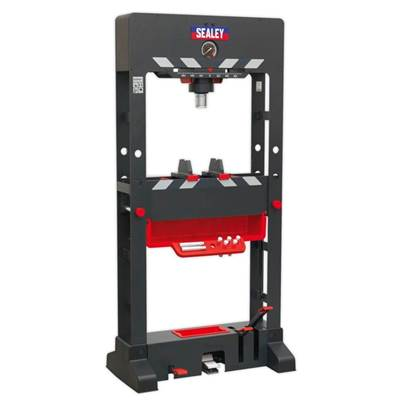 Sealey Tools Premier Air/Hydraulic Press 50tonne Floor Type with Sliding Ram and Foot Pedal