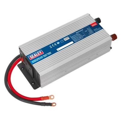 Sealey Tools Power Inverter Pure Sine Wave 1000W 12V DC - 230V 50Hz