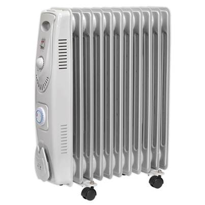 Sealey Tools Oil Filled Radiator 2500W/230V 11 Element with Timer