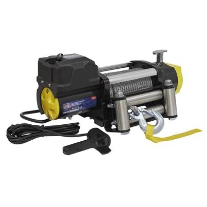 Sealey Tools Recovery Winch 5675kg (12500lb) Line Pull 12V Industrial