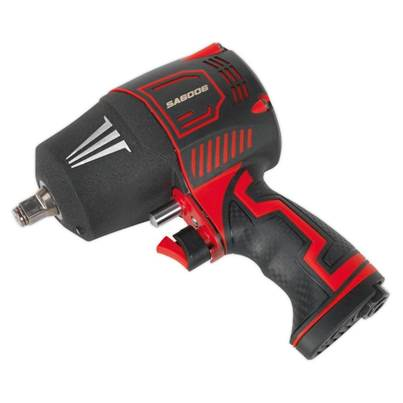 "Sealey Tools Composite Air Impact Wrench 1/2""Sq Drive Twin Hammer"