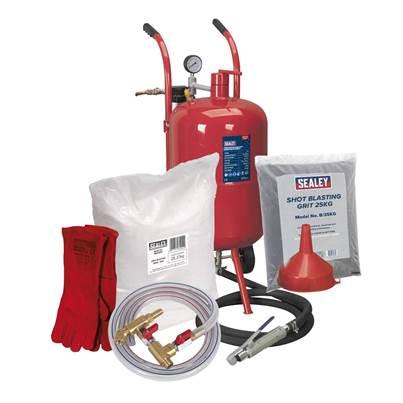 Sealey Tools Shot & Soda Blasting Kit