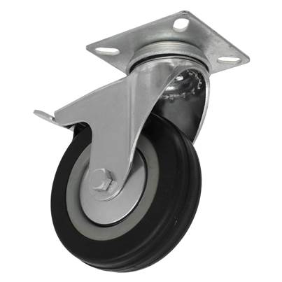 Sealey Tools Castor Wheel Swivel Plate with Brake Ø100mm