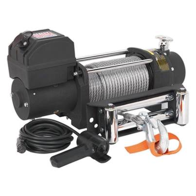 Sealey Tools Self Recovery Winch 5450kg (12000lb) Line Pull 12V