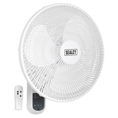 "Sealey Tools Wall Fan 3-Speed 16"" with Remote Control 230V"