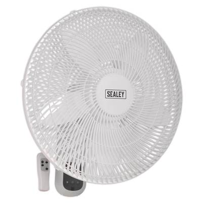 "Sealey Tools Wall Fan 3-Speed 18"" with Remote Control 230V"