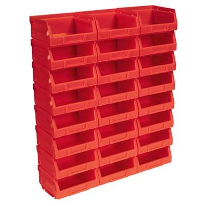 Sealey Tools Plastic Storage Bin 105 x 85 x 55mm - Red Pack of 24