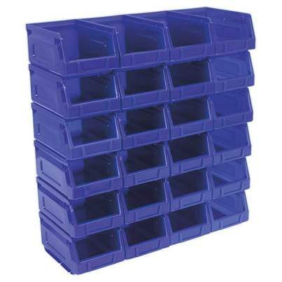 Sealey Tools Plastic Storage Bin 105 x 165 x 85mm - Blue Pack of 24