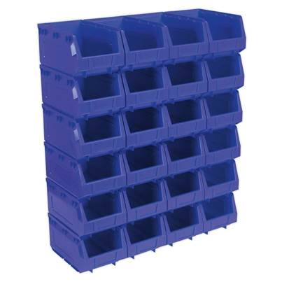 Sealey Tools Plastic Storage Bin 150 x 240 x 130mm - Blue Pack of 24