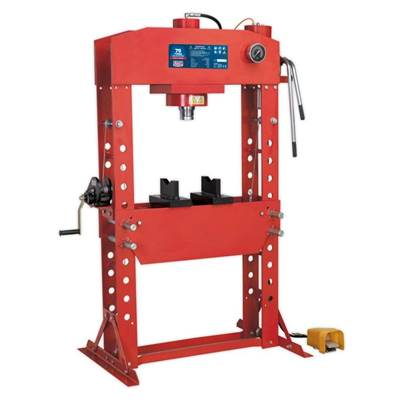 Sealey Tools Air/Hydraulic Press 75tonne Floor Type with Foot Pedal